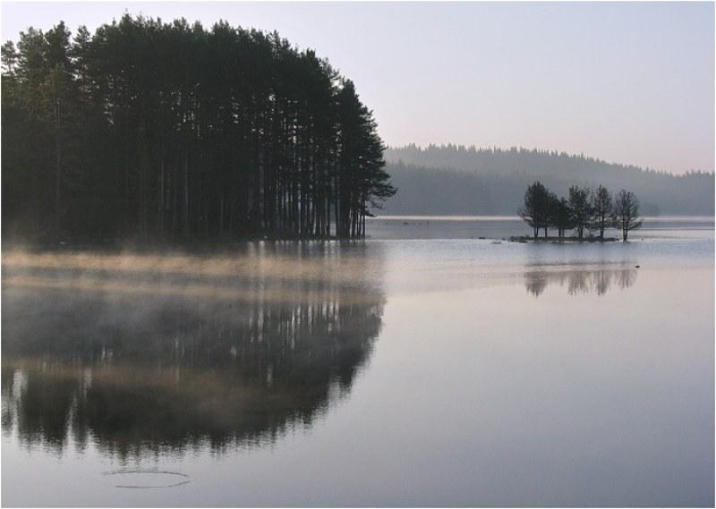 Магията на едно утро на язовир Широка поляна