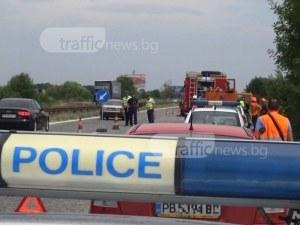 Бус се вряза в автомобил на магистрала Тракия, мъж е в болница