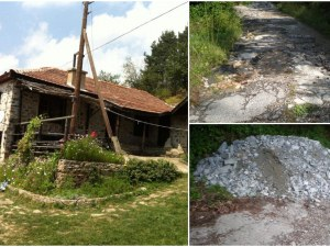 Къща за селски туризъм опустя! Две баби пълнят дупките на пътя с камъни и чакъл