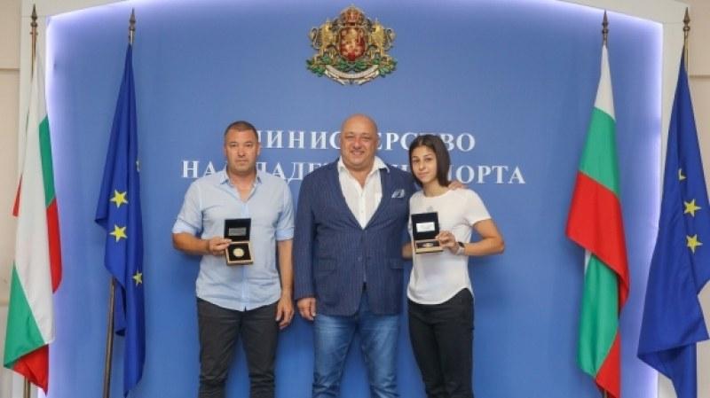 Спортният министър награди Алекс Начева за европейското сребро