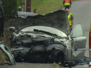 Черна неделя! Тир и три коли се удариха край границата със Сърбия, един е загинал