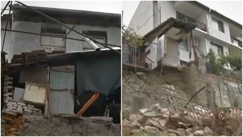Свлачище заплашва да погълне няколко къщи във Велико Търново