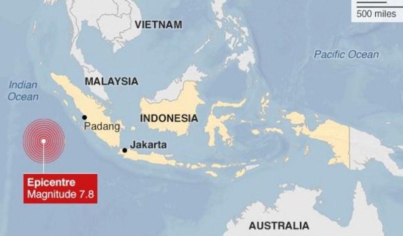 Силен трус в Суматра, предупреждение за цунами