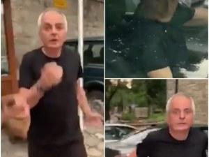 Неадекватен охранител идва с кола на работа, скача на бой на пловдивчанин