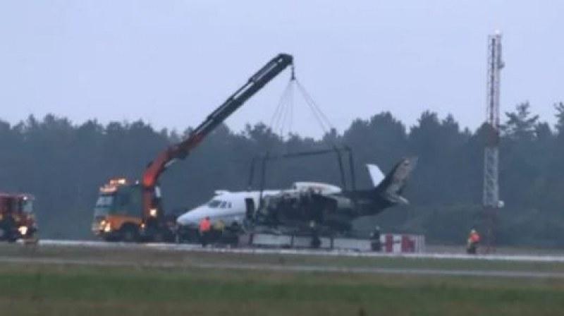 Самолет с мениджърския екип на певицата Пинк се разби на летище в Дания