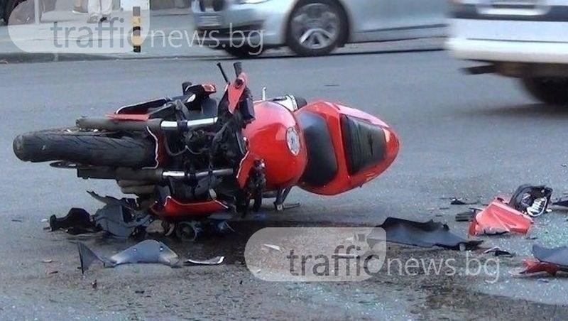 Тежка катастрофа с мотори край Пловдив! 16-годишен е с опасност за живота