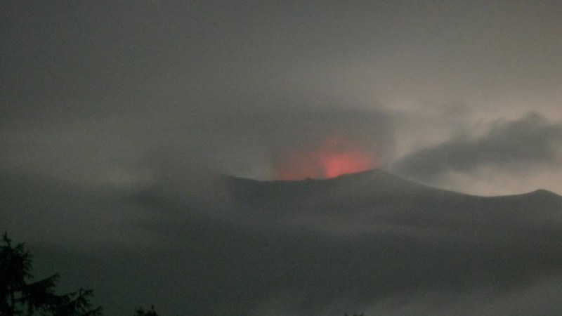 Изригна планина в Япония