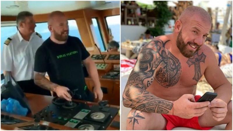 След танк, Динко Вълев подкара ферибота за Тасос