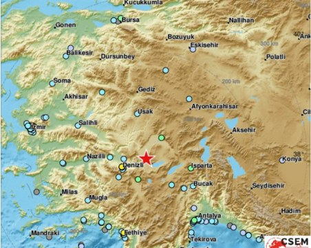 Земетресение от 6,5 по Рихтер в Турция - има затрупани хора в Денизли
