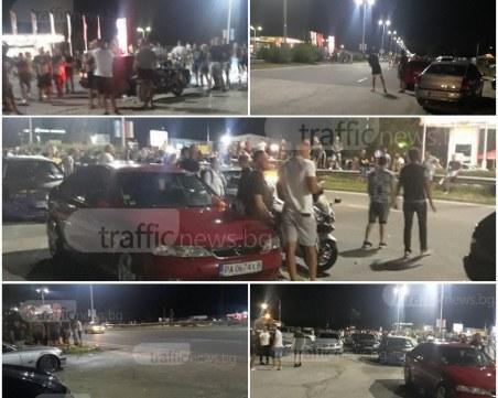 Бързи и яростни, но не в кината, а на Асеновградско шосе! Близо 200 души гледаха поредната незаконна гонка