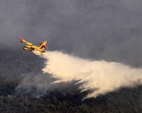 Голям пожар избухна на остров Тасос