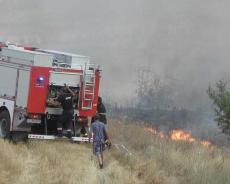Пожарът в Хасковско е овладян! Подозират човешка небрежност