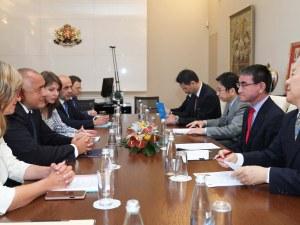 Борисов: България има интерес да увеличи износа си за Япония