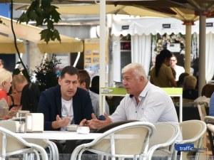 Ден след съдбоносното решение на ГЕРБ – Тотев и Зико обсъждат бъдещето на Пловдив на кафе
