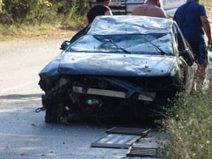 Кола се обърна по таван в Благоевградско, шофьорът оцеля по чудо