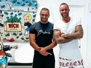 Филип Плейн за пореден път се довери на български фризьор