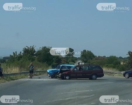 Изходът на Пловдив - блокиран заради автомелето, ранило трима души