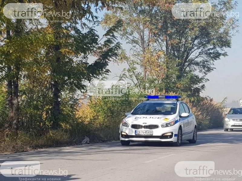 Пожарът край Стамболийски продължава да тлее, екипи регулират движението