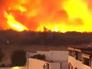 Евакуират хора от Марбея заради голям пожар