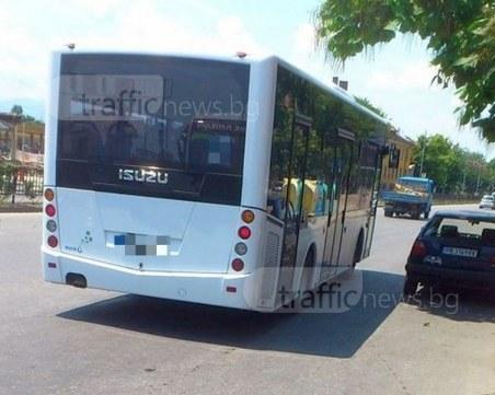 Пловдивчанка пострада в автобус след рязко спиране