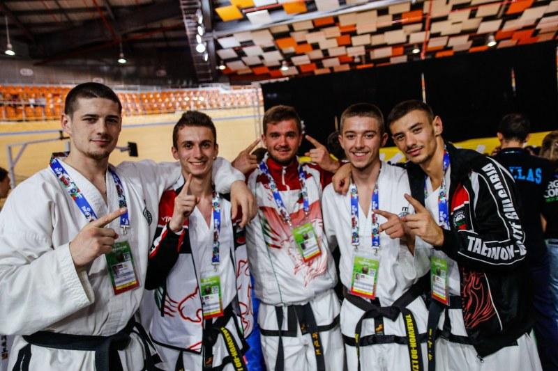 България с още пет медала от световното по таекуон-до в Пловдив