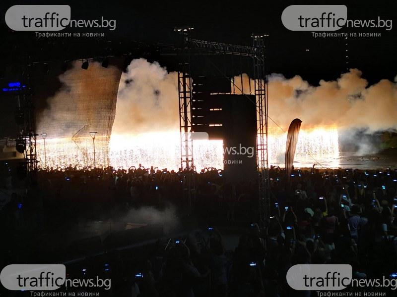 Огнена стена на моста на Марица! 23000 фойерверки запалиха небето