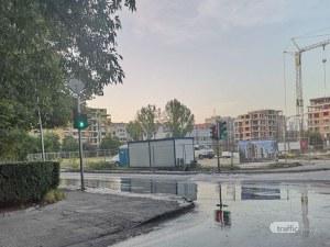 Където е текло, пак ще тече! Пловдивски булевард за пореден път под вода, дни след ремонт