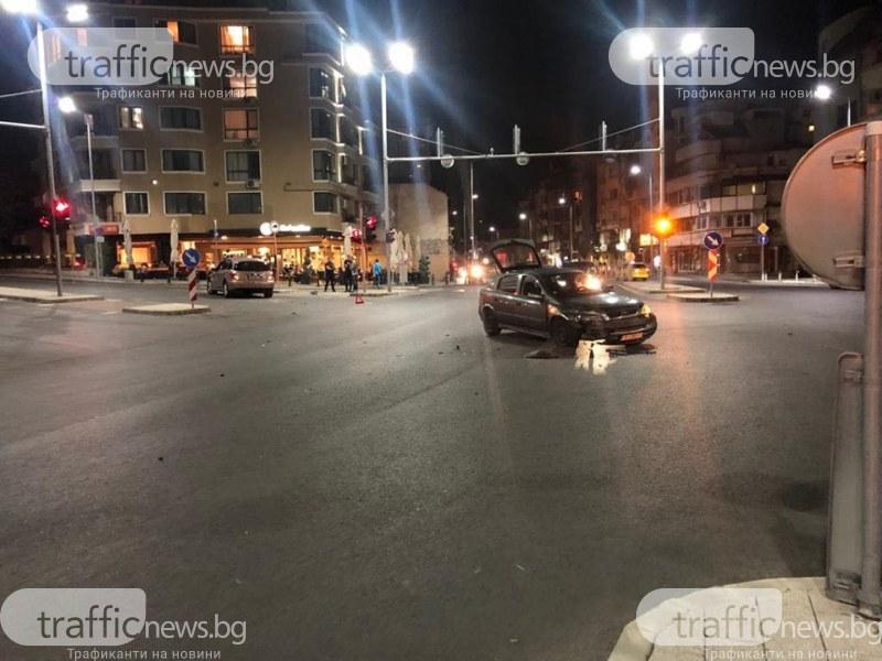 Катастрофа на кръстовище в центъра на Пловдив