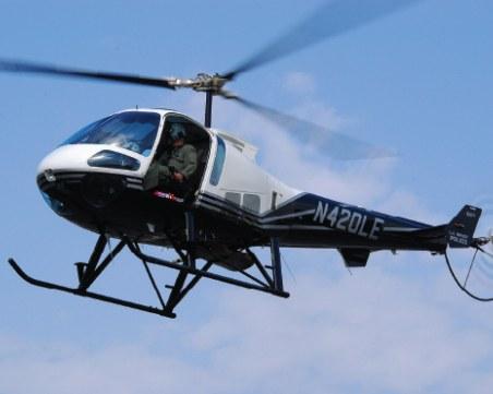 Кола блъсна хеликоптер край Чепеларе, издирват шофьора