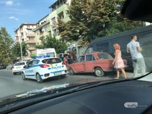 Няколко коли катастрофираха на Коматевско шосе, линейка и полиция са на мястото