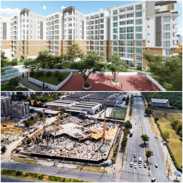 Строежът на един от най- атрактивните комплекси в Пловдив напредва с бързи темпове