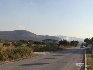 Пожар вилнее над Марково, запали се гориста местност