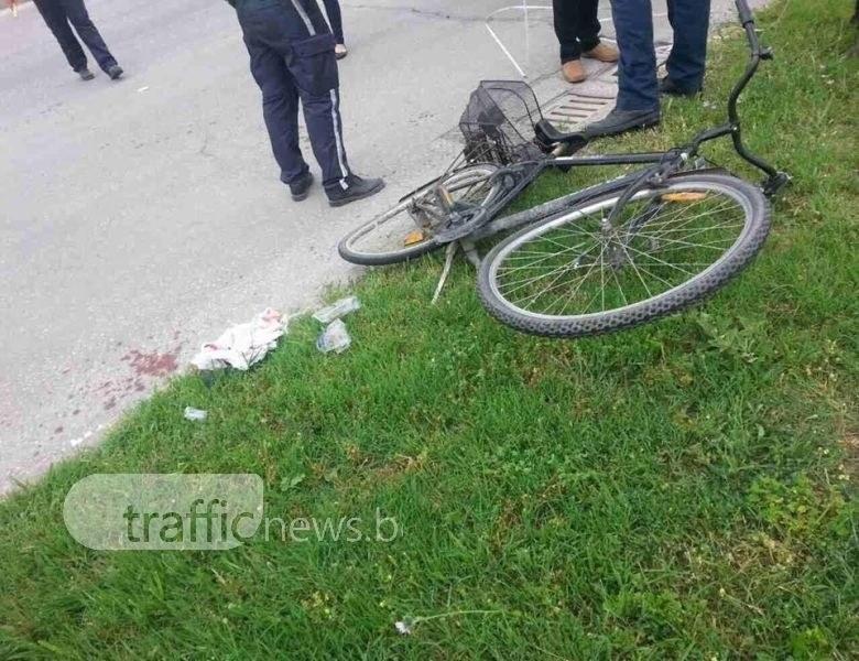 19-годишен велосипедист загина край Пловдив, помете го негов връстник с Мерцедес