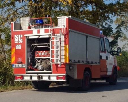 Пламъци обхванаха квартал в Димитровград, издирват извършителя