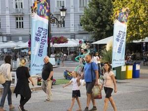Снимка срещу обещание за рециклиране на отпадъци напомня на посетителите на НОЩ/Пловдив да пазят чистота