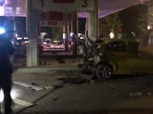 Кола на метан се взриви на бензиностанция в Добрич, жена загина