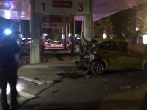Таксиметрова кола се е взривила при зареждането с метан в Добрич