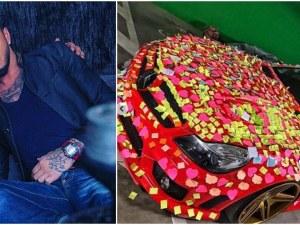 Бандитка украси колата на Джино с безброй лепенки