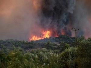 Продължава гасенето на големия пожар в Закинтос, евакуирани са над 100 души