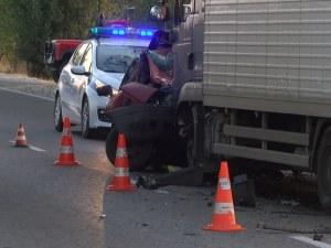 Жена с ауди загина след челен удар на фаталния път Русе-Бяла