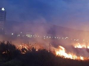 Спряха пожара към столичното летище, гори към кв.