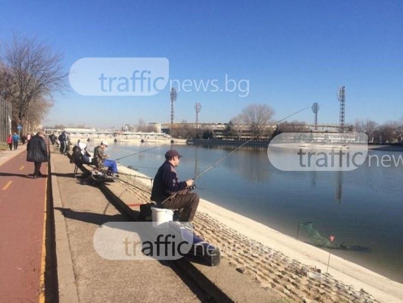 Лепнаха глоба на рибар, разпънал въдици на Гребната база в Пловдив