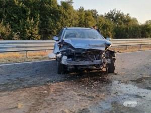 Кола се удари в мантинелата на