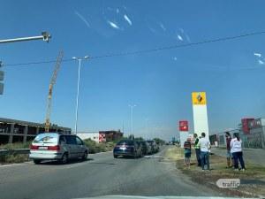 Верижна катастрофа запуши Карловско шосе в Пловдив