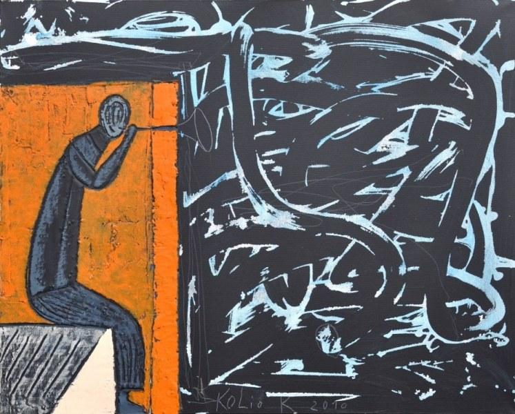 Необозримият Кольо Карамфилов оживява с графики, живопис и инсталации в НДК
