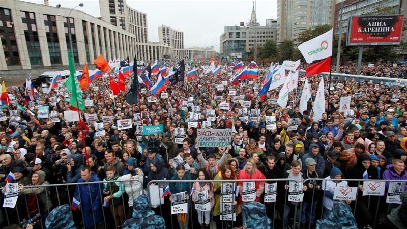25 хиляди души протестираха в Москва в подкрепа на политзатворниците