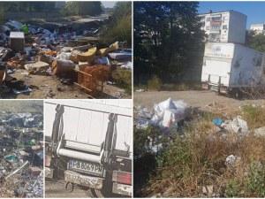 Поляна в Пловдив се превърна в сметище! Купищата с боклуци растат лавинообразно