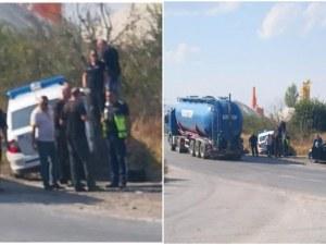 Гонка с нарушител е причина за инцидента с патрулка на околовръстното на Асеновград