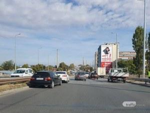 Две катастрофи през няколко метра затапиха един от изходите на Пловдив