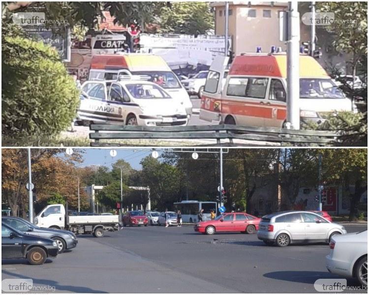 Шофьор блъсна микробус на червено и избяга! Полицията в Пловдив го издирва